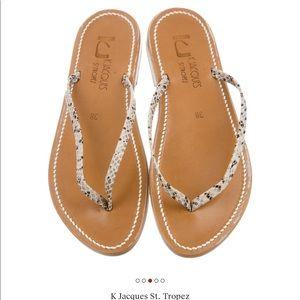 K Jacques St. Tropez Venise Sandals embossedpython